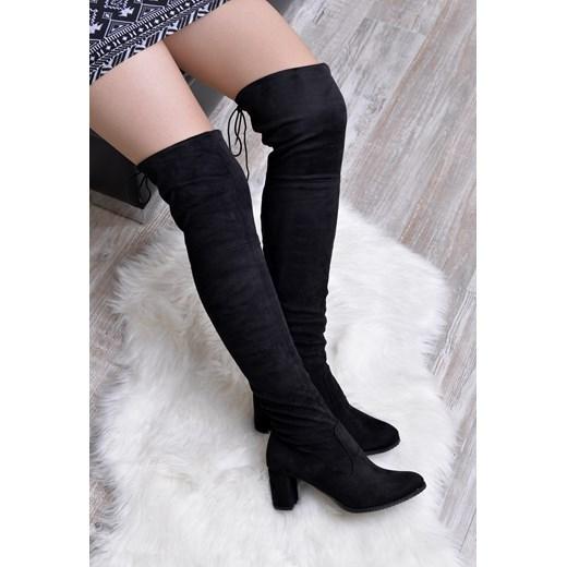 Kozaki damskie Calzado eleganckie zimowe za kolano gładkie