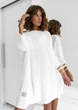 Sweter Marisa Biały   Butik Latika wyprzedaż  - kod rabatowy