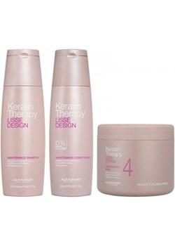 Alfaparf Lisse Design Keratin Therapy zestaw po keratynowym prostowaniu włosów   szampon, odżywka, maska 500ml  Alfaparf Milano friser.pl - kod rabatowy