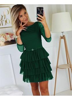 Sukienka z lekkimi falbanami  Bicotone okazyjna cena 4myself.pl  - kod rabatowy