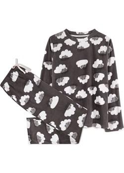 piżama komplet, chmury <br> grafitowy, NLP-458 - Atlantic   wyprzedaż Atlantic  - kod rabatowy