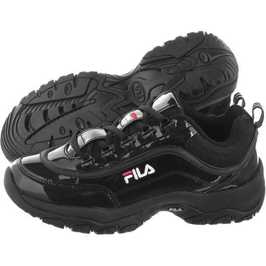 Sneakersy damskie Fila na platformie sznurowane ze skóry ekologicznej bez wzorów