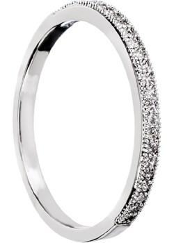 Srebrny pierścionek obrączka z małymi cyrkoniami G8   evebird.pl - kod rabatowy