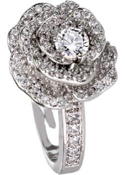 Srebrny pierścionek kwiat róża G4   evebird.pl - kod rabatowy