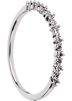 Srebrny pierścionek obrączka z cyrkoniami G1   evebird.pl - kod rabatowy