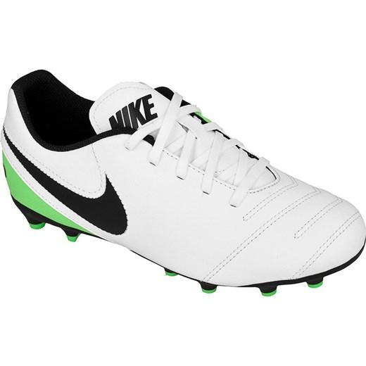 Buty sportowe męskie Nike skórzane białe sznurowane