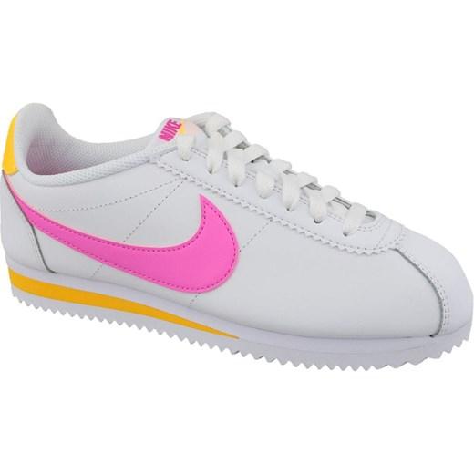 Buty sportowe damskie białe Nike młodzieżowe bez wzorów