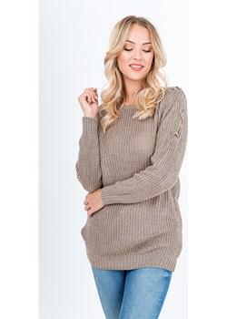 Sweter z wiązaniem na ramionach   wyprzedaż zoio.pl  - kod rabatowy