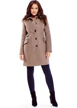 wełniany płaszcz zapinany na guziki  Ptakmoda.com okazyjna cena   - kod rabatowy