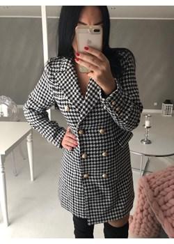 Wełniany płaszcz w pepitkę  Drole De Coupine Avenue M - kod rabatowy