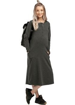 Sukienka ciążowa i do karmienia długa bawełna 5543  Que  - kod rabatowy