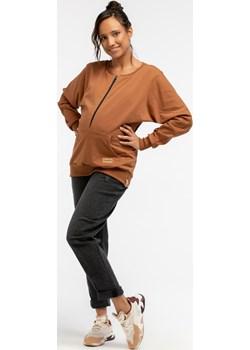 Bluza ciążowa i do karmienia dresowa 5581 Que   - kod rabatowy