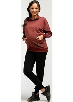 Bluza ciążowa dresowa szalowy kołnierz 5772  Que  - kod rabatowy