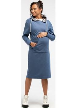 Sukienka ciążowa dresowa z kapturem 6069/6090  Que  - kod rabatowy