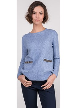 Sweter z połyskującymi aplikacjami przy kieszeniach  Monnari wyprzedaż E-Monnari  - kod rabatowy