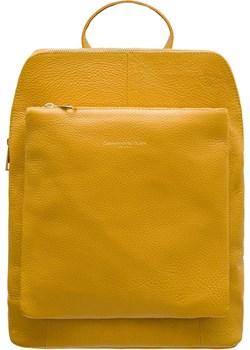 Skórzany plecak damski Glamorous by GLAM - żółty  Glamorous By Glam Glamadise.pl - kod rabatowy