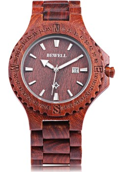 Męski drewniany zegarek BEWELL  Bewell promocja niwatch.pl  - kod rabatowy