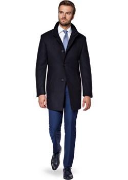Płaszcz Granatowy Alexio Lancerto  promocja   - kod rabatowy