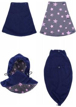 MijaCulture - 3 w1 bluza polarowa 3D ciążowa i do noszenia dziecka  4047/M51 ciemny granat Mijaculture MijaCulture wyprzedaż - kod rabatowy