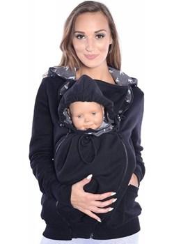 MijaCulture - 3 w1 bluza 3D ciążowa i do noszenia dziecka  4046/M50 czarny Mijaculture MijaCulture - kod rabatowy