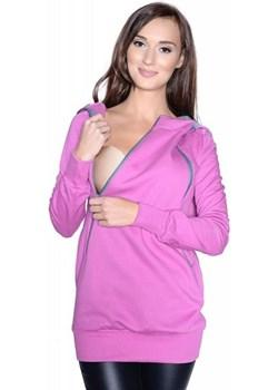 """MijaCulture - 3 w 1 ciepła bluza ciążowa i do karmienia z kapturem """"Rita"""" 7110 róż Mijaculture MijaCulture - kod rabatowy"""