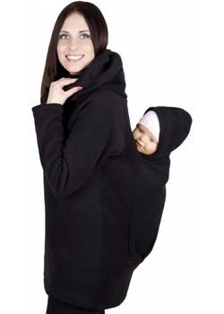 Wygodna bluza polarowa do noszenia dziecka + komin 1107 czarny okazyjna cena MijaCulture - kod rabatowy