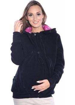 MijaCulture - 3 w1 bluza polarowa 3D ciążowa i do noszenia dziecka  4047/M51 czarny Mijaculture wyprzedaż MijaCulture - kod rabatowy