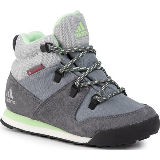 Buty zimowe dziecięce Adidas wiązane trzewiki w Domodi
