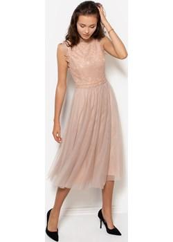 Długa koronkowa sukienka   bibiana.pl - kod rabatowy