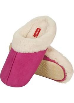 Ciepłe kapcie damskie SOXO z futerkiem różowe Soxo rozowy Sklep SOXO - kod rabatowy
