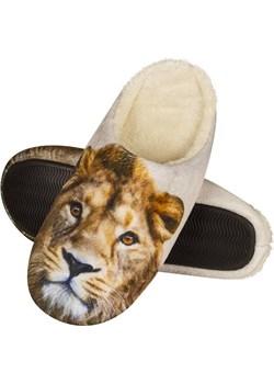 Kapcie zwierzaki męskie SOXO ze zdjęciem lwa tpr SOXO  Sklep SOXO - kod rabatowy