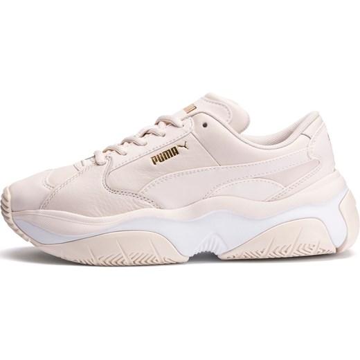 Buty sportowe damskie Puma na wiosnę ze skóry bez wzorów płaskie