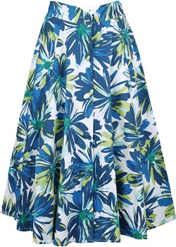 H&R London - Vintage Hawaii Skirt - Spódnica Medium - niebieski/zielony   promocja   - kod rabatowy