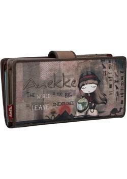 Anekke klasyczny brązowy portfel Egypt Anekke  Differenta.pl - kod rabatowy