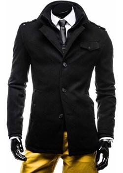 Płaszcz męski czarny Denley 8853E Denley  okazja   - kod rabatowy