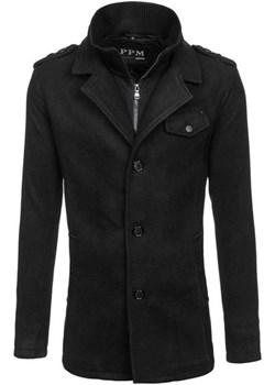 Płaszcz męski czarny Denley 8853F  Denley okazyjna cena   - kod rabatowy