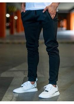 Spodnie męskie dresowe joggery czarne Denley XW01  Denley  - kod rabatowy