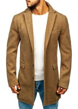 Płaszcz męski zimowy camelowy Denley 1047A Denley  promocyjna cena   - kod rabatowy