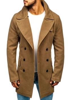 Płaszcz męski zimowy camelowy Denley 1048A Denley  okazyjna cena   - kod rabatowy