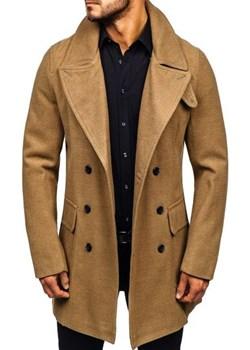 Płaszcz męski zimowy camelowy Denley 1048  Denley.pl promocja   - kod rabatowy