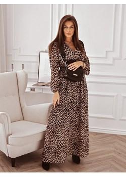 Sukienka maxi w panterkę z dekoltem na zakładkę  Rose Boutique  - kod rabatowy