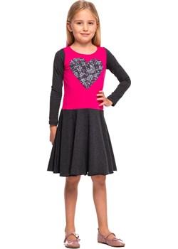 Sukienka z SERCEM fuksjowy grafitowy EDYCJA LIMITOWANA  Rennwear rennwear.com - kod rabatowy