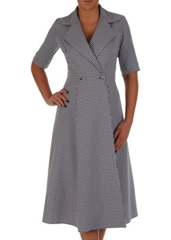 Sukienka kopertowa 18380, modna kreacja w pepitkę.   Modbis - kod rabatowy
