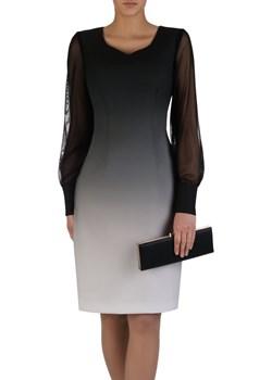 Sukienka damska 15881, klasyczna kreacja w wyszczuplającym wzorze.   Modbis - kod rabatowy