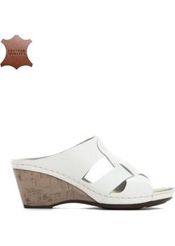 Białe Skórzane Sandały Space For Two bialy Renee renee.pl - kod rabatowy