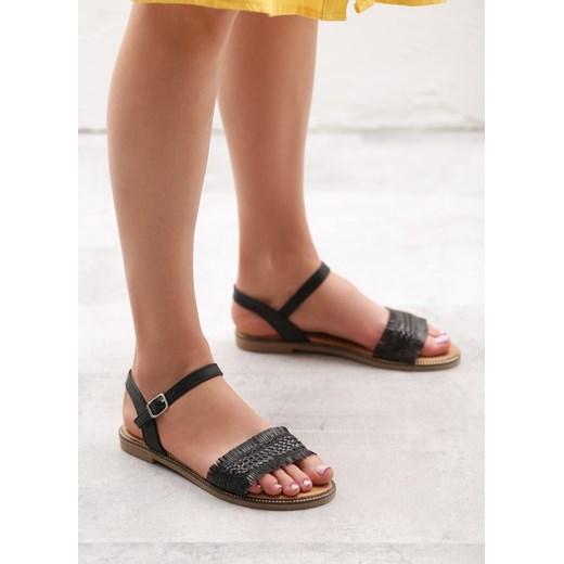 Sandały damskie Born2be bez obcasa casual płaskie z klamrą