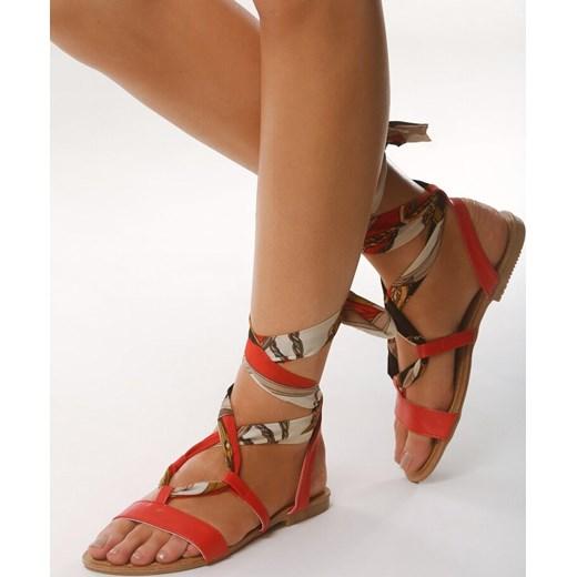 Sandały damskie Born2be bez obcasa sznurowane na lato