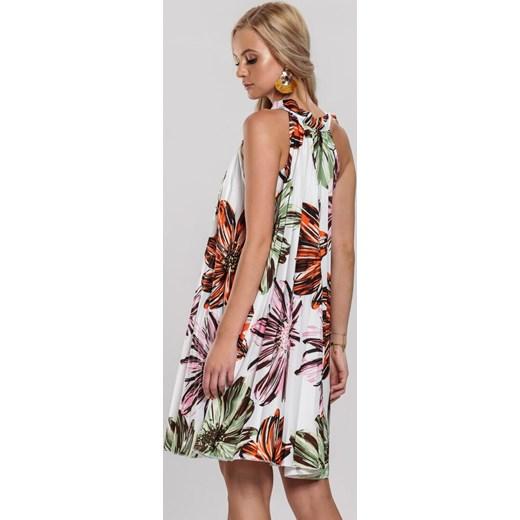 Sukienka wielokolorowa Renee letnia z dekoltem halter bez rękawów