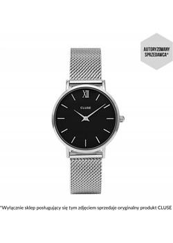 Zegarek Cluse Minuit Silver Black/Silver CL30015 czarny Cluse SMA Cluse - kod rabatowy