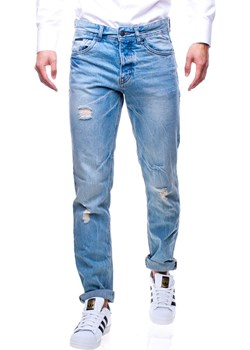 Spodnie jeansowe męskie z przetarciami Recea Recea  promocja Recea.pl  - kod rabatowy